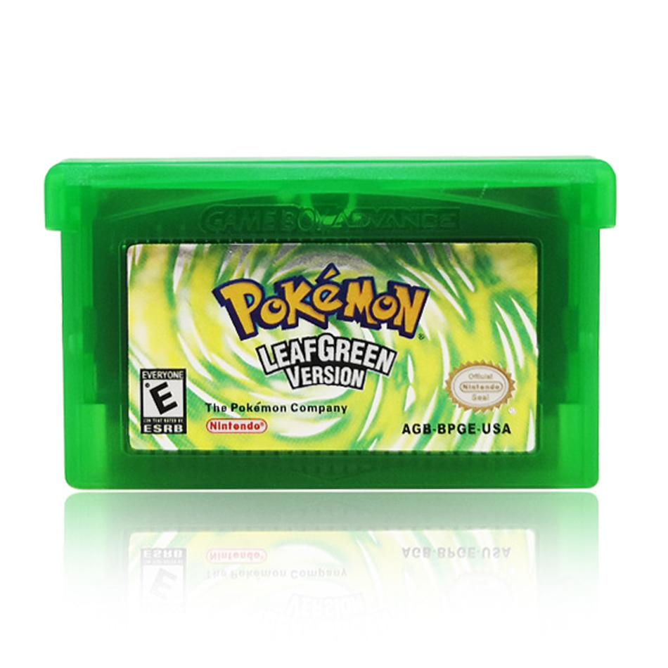 Video Game Cartridge Console Card 32 Bits Pokemon Emerald FireRed LeafGreen  Ruby Sapphire /USA For GBA#1 - Hot Sale #9D12C2