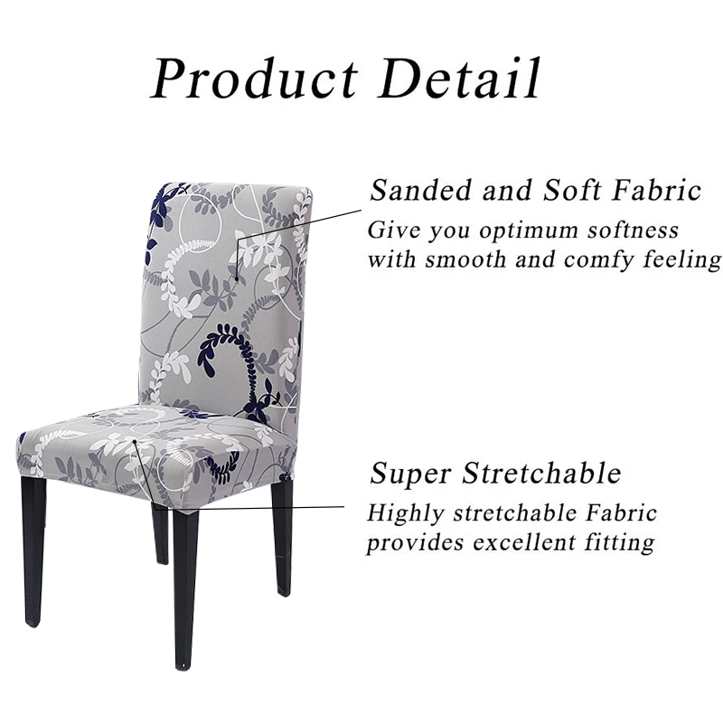 Chair Cover Spandex Removable Seat Cover For Office Dining Room Weddings Party Banquet Universal Size 1