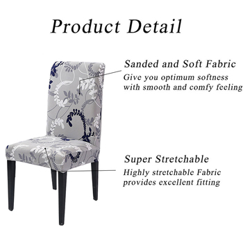 1/2/4/6Pc Removable Chair Covers For Dining Room 4 Chair And Sofa Covers