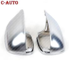 Car 2pcs / set of Matte Chrome Rearview Mirror Cover Cap Car Mirror Cover For Audi Q5 2009 2010 2017 / Q7 2009 2010 2015