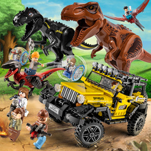 Jurassic World 2 Building Blocks Dinosaurs Figures Bricks Tyrannosaurus Rex Indominus I-rex Assemble Kids Toys For Children