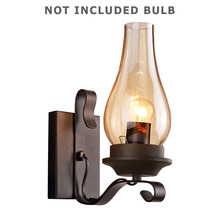 E27 Wall Light Iron Home Decor Loft Corridor Lamp I