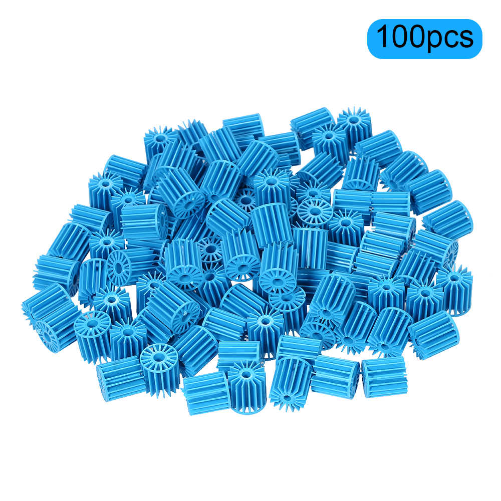 100 Pcs 15*16 Mm Bio Balls Aquarium Aquarium Vijver Filter Biologische Filtratie Media Blauw Pvc Filter Media