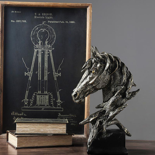 Strongwell, Modern Abstract Horse Head Statue