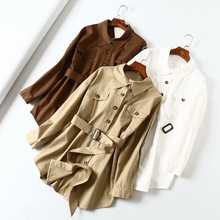 Mooirue Spring Women Trench Coat With Sashes Single Breasted Loose Stretwear Harajuku Safari Style Pockets  Tops Cardigan