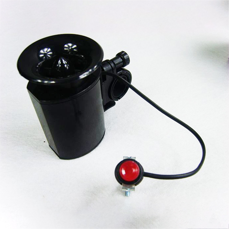For Safety Bicycle Black Bell Compass Inside Motorized Bike Bell Horn Alarm New