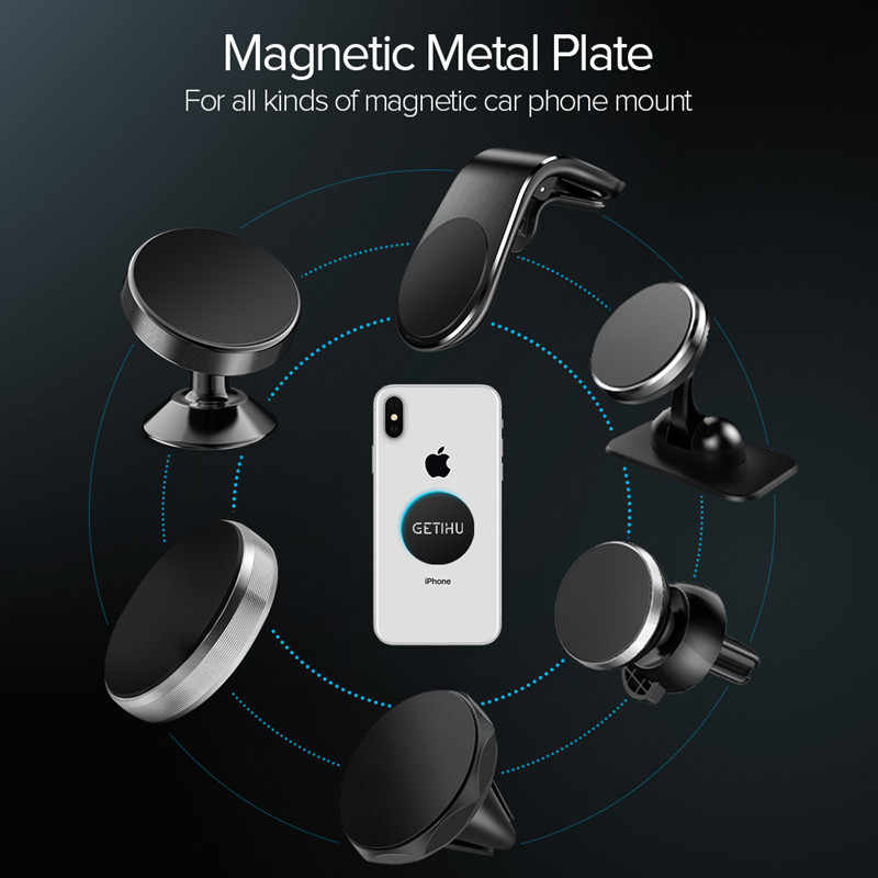 Getihu 3 Pcs/lot Magnetik Pelat Logam untuk Ponsel Holder Universal Besi Disk 3M Stiker Gunung Ponsel magnet Berdiri