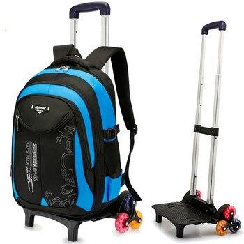 Trolley school Backpack Children School Bags For Grils boys kids Orthopedic Backpacks Removable Wheeled Bag teenagers Mochila
