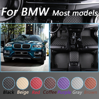 Custom Car Floor Mats For BMW G30 E46 E90 F10 F11 F25 F30 F45 X1 X3 F25 X5 F15 E30 E34 E60 E70 All Models Car Styling Foot Mats image