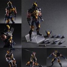 Pa Play Arts 27cm Marvel X-men Weapons Sword Knives Katana  Wolverine James  Howlett Logan Howlett Action Figure Model Doll Toys