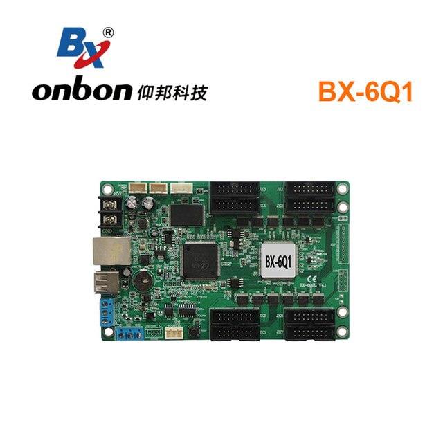 Onbon BX 6Q1ผ้าสำลีสีController Asynchronous RGB Ledควบคุมอุปกรณ์เปลี่ยนBX 5Q1สำหรับร้านค้าขนาดเล็กหน้าจอ