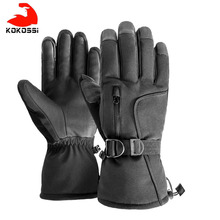 Ski-Gloves Touchscreen-Function Warm Women Kokossi with Snowboard