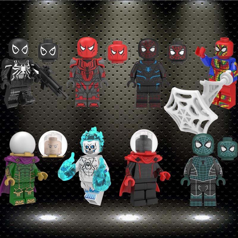 Ing KT1028 Mysterio Spider Man Far From Home Ghost Rider Spider-Man Peter Park Marvel Super Heroes Building Blocks Kids Toys