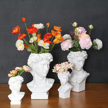 Resin Vase Home Decoration Makeup Brush Storage Box Pen Holder European Style Decoration Head Sculpture Model Wedding