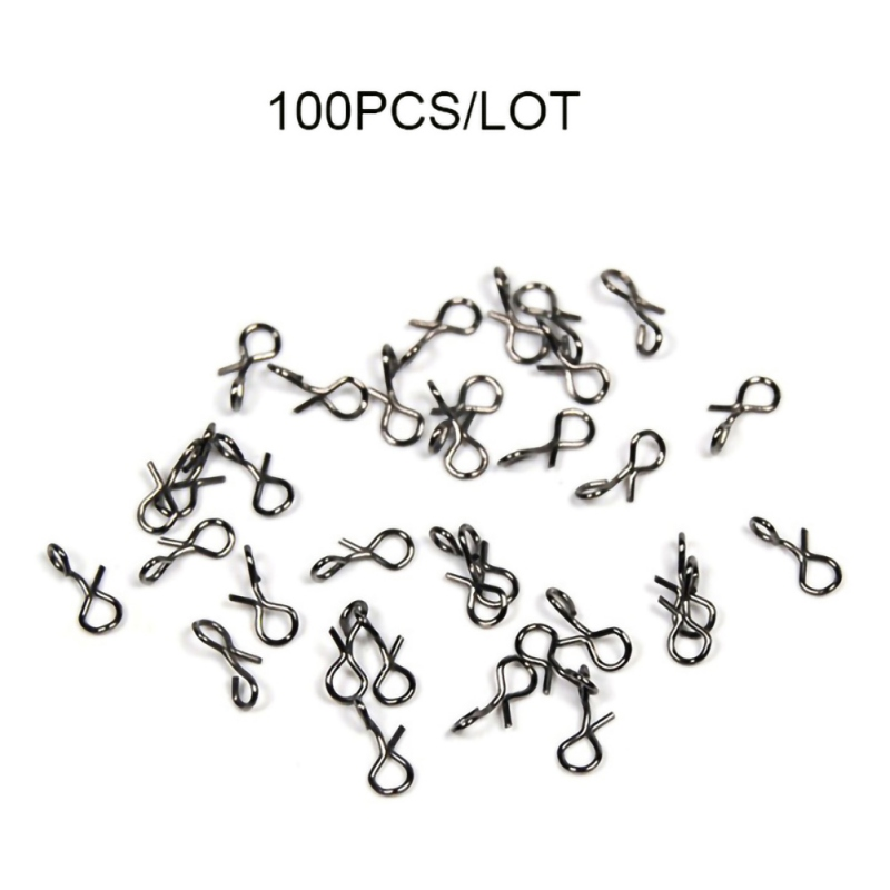 for Fishing 100pcs/set Fly Snap Quick Change Connect For Flies Hook & Lures Carbon Steel