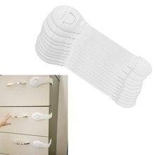 Protector de seguridad para bebés, cierre de plástico, protección de bloqueo de puertas y cajones, 8 unids/lote