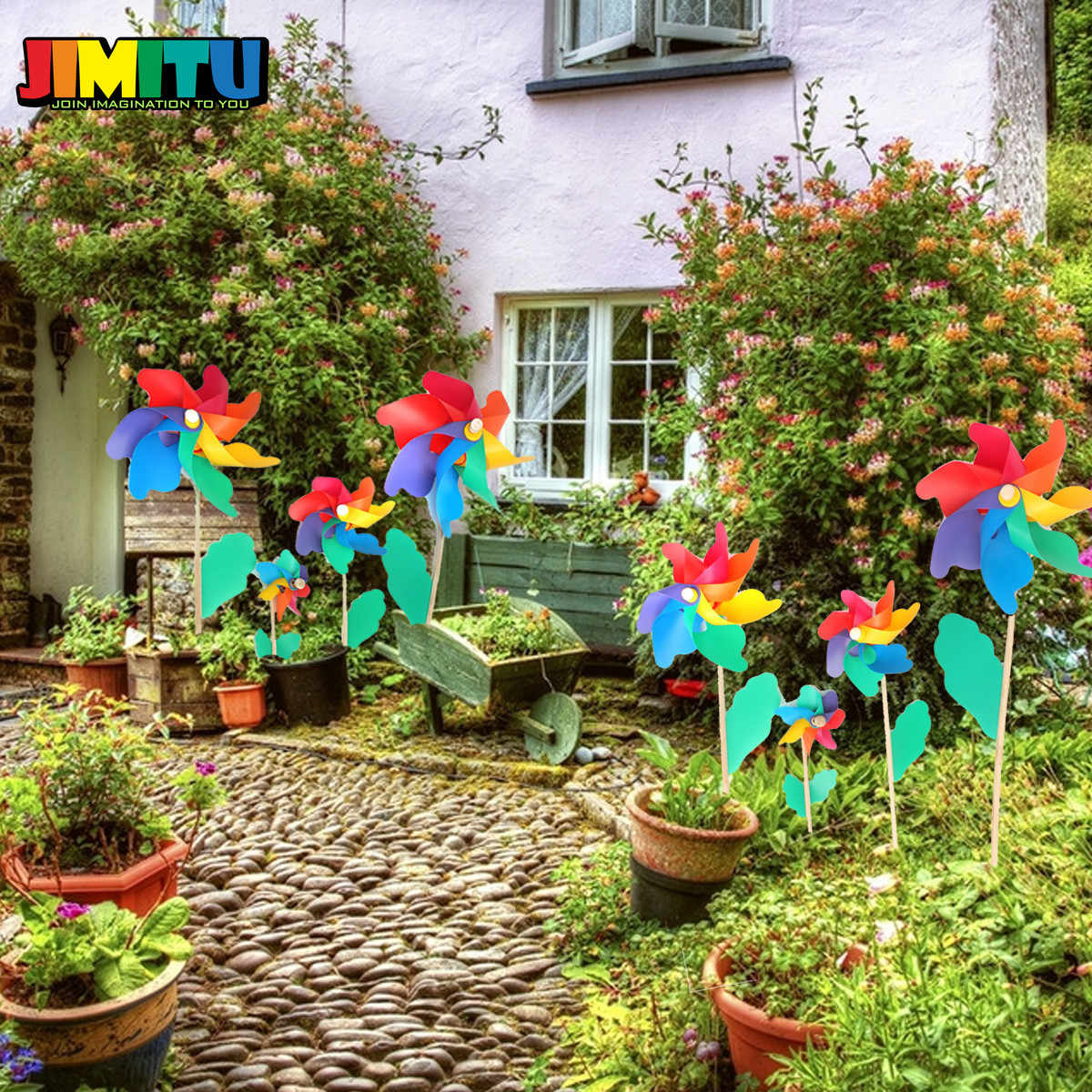 12cm Plastic Windmill Toy Colorful