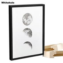 Moldura de madeira simples para parede, quadro de madeira natureza simples a4 a3 preto branco café quadro de certificado