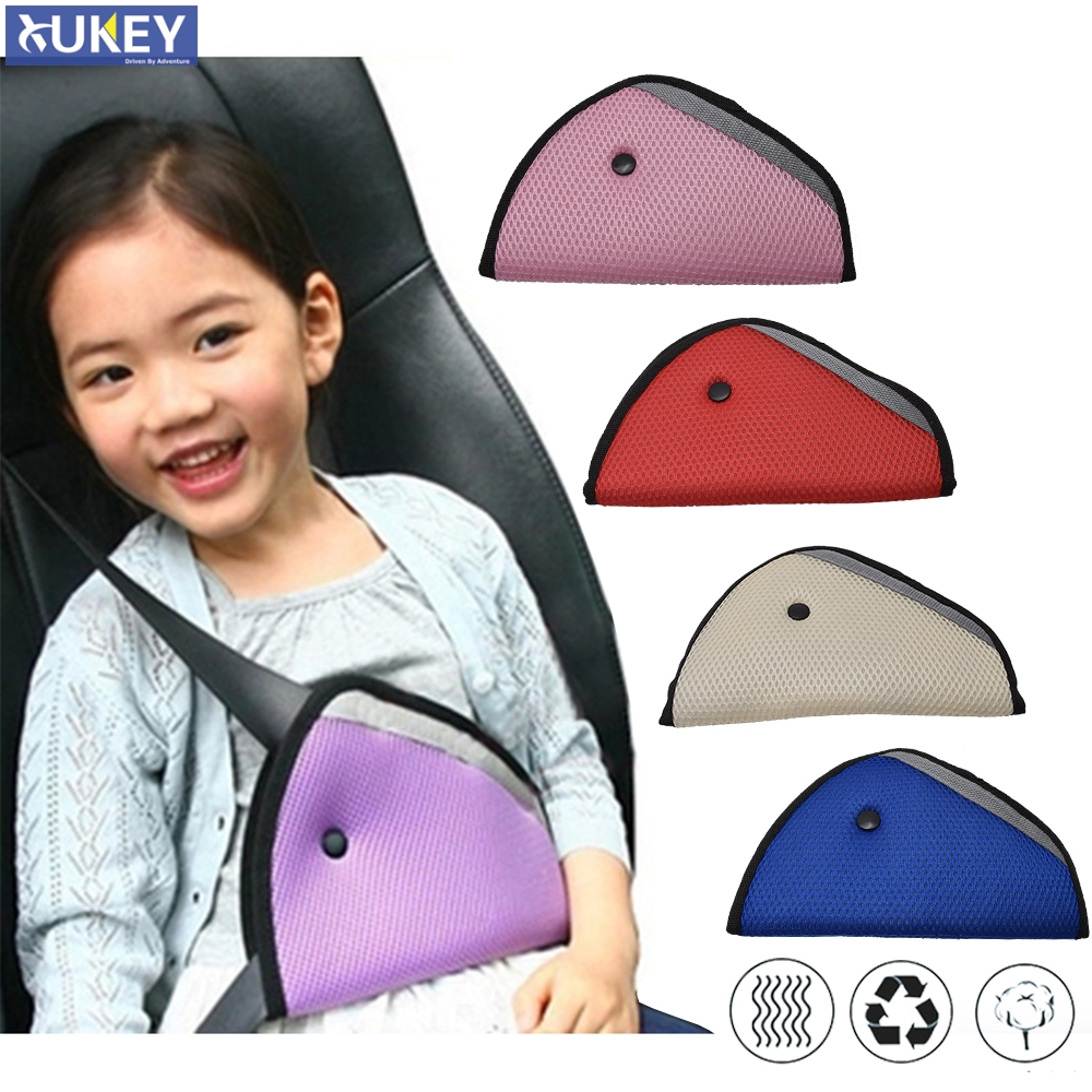 Oxford fabric Kids Car Safety Cover Strap Adjuster Pad Harness Seat Belt Clip