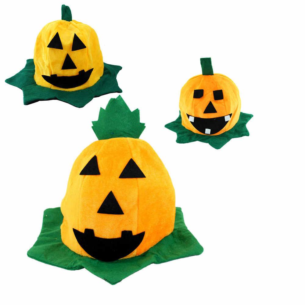 Children's Halloween Hat Home Party Dress Decor Hat For Halloween Costume Accessory Girl Cosplay Halloween Pumpkin Hat Random
