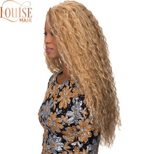 Louise Hair Long Wavy Curly Mix Blonde Wig Platinum Blonde Synthetic Wi