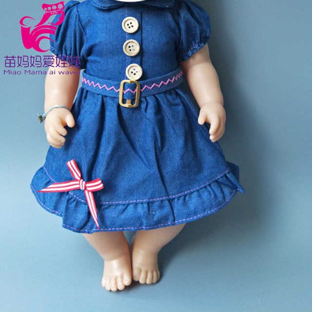 Dolls Rompers Fit 43cm  Baby Doll 18 Inch girl boy Doll pajama Clothes kids play toys 5