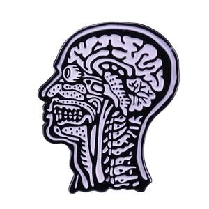 Скелет булавка анатомическая биология ужас искусство ювелирные изделия