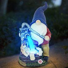 Zwerg Elf Gnome Garten Statuen Modell Geschenke Harz Mit Solar LED Licht Garten Statue Dekoration Fantastische Modell Outdoor Ormnament