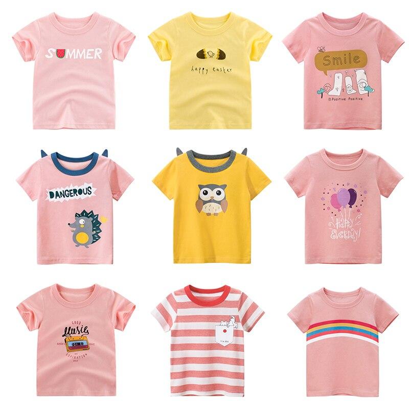 Футболка для девочек, детские топы, футболки для маленьких мальчиков, футболка с рисунком, хлопковые детские футболки, одежда для маленьких мальчиков, лето 2019|Тройники| - AliExpress