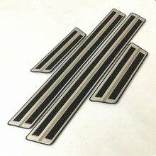 Авто порога пластина потертости пластина-порожек для toyota C-HR-, нержавеющая сталь