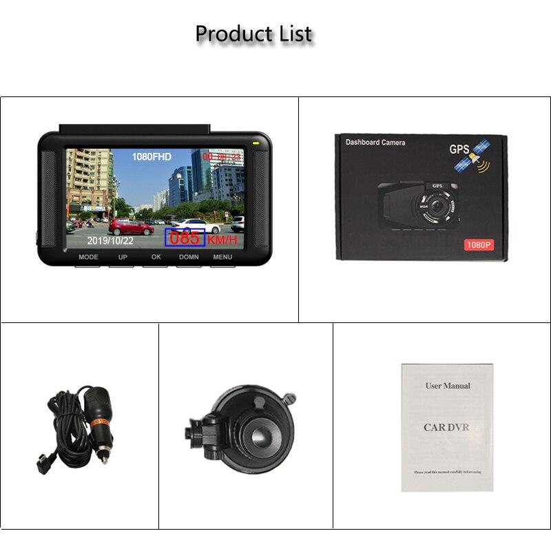 Jiluxing X06S FHD 1080P GPS positionnement voiture DVR vitesse Mini tableau de bord caméra enregistreur vidéo enregistreur automatique vision nocturne enregistrement en boucle - 6