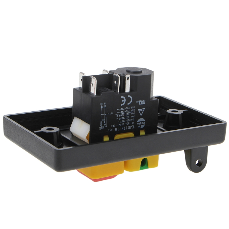 Image 5 - Electromagnetic Pushbutton Switch Paddle SwitchVoltage protection Table Saws Wholesale dropshipping-in Switches from Lights & Lighting