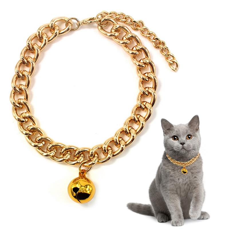 Dorakitten 1pc Pet Collar Fashion Bell Decor Aluminum Dog Cat Collar Pet Necklace Jewelry Clothing Accessories Pet Supplies