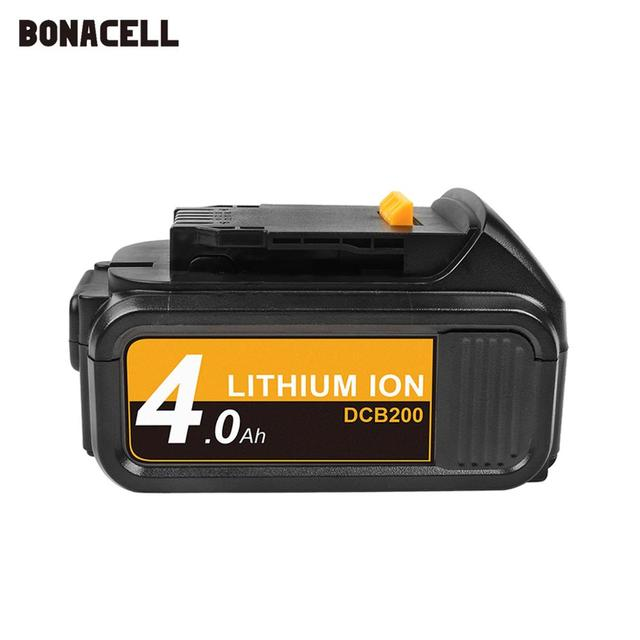 Bonacell MAX XR Battery for Dewalt 4000mAh Replacement Battery for DCB200 DCB181 DCB182 DCB204 2  DCB201 DCB201 2 L50