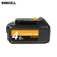 Bonacell MAX XR 배터리 Dewalt 4000mAh 교체 용 배터리 DCB200 용 DCB181 DCB182 DCB204 2 DCB201 DCB201 2 L50