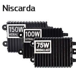 Niscarda 75 w 100 150 hid xenon lastro h1 h3 h7 h8/h9/h11 9005/hb3 9006/hb4 xenon kit de lastro