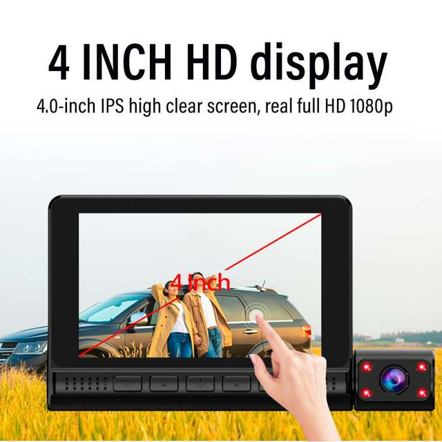 Dash Cam Video Recorder Rearview Camera 4