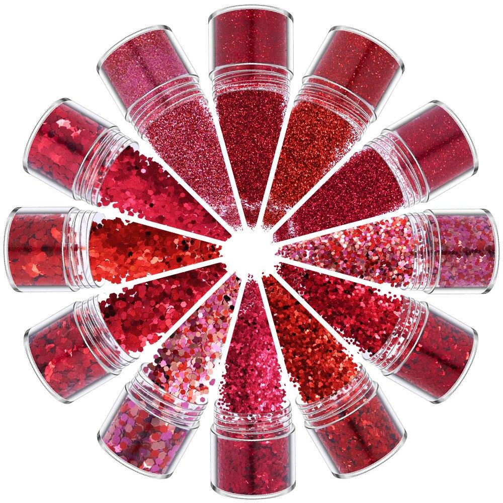 Блестящий Порошок для ногтей, блестки, порошок русалки, красная серия «сделай сам», зеркальный лак для маникюра, украшение для ногтей 10 мл