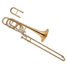 High Grade Gold lacquer brass body Bass Trombone