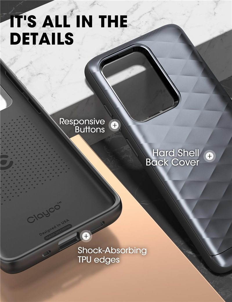The Armour Hybrid Protective Case With Built-in Credit Card Slot For S20 Ultra 5G