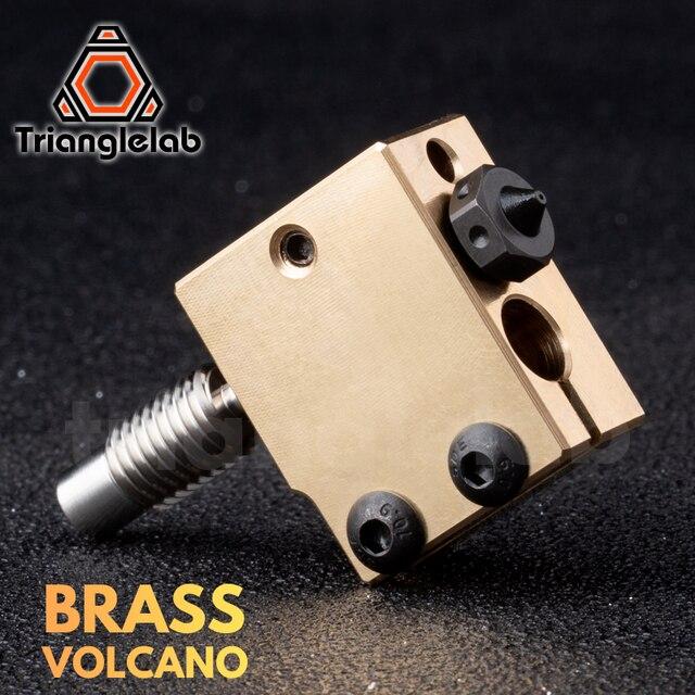 Trianglelab真鍮火山ヒーターブロック硬化鋼火山ノズルチタン合金熱ブレーク高温キットPT100