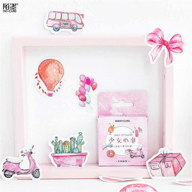 1 חבילה Kawaii ורוד ילדה פנקס מחברת מדבקת Creative ברק להחלפה מדבקת מכתבים מתנה נוסע יומן