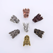 10PCS/package Wholesale Vintage Crown Skull Hollow Charm Accessories Findings for bracelets DIY Jewelry Making