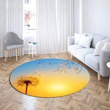 Одуванчик ковер для гостиной пол коврик спальни нескользящее