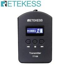 Retekess جهاز إرسال لاسلكي احترافي TT106 UHF ، نظام دليل السفر ، مترجم متزامن