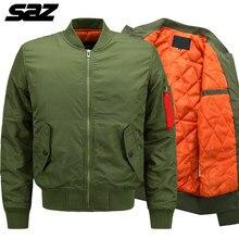 Мужская куртка-бомбер Saz в стиле милитари, тактическая утепленная куртка-бомбер в стиле милитари, ВВС, для бейсбола, зима