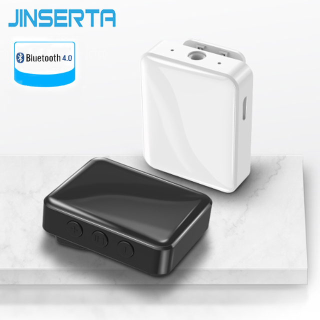 JINSERTA receptor de Audio Bluetooth 4,0, adaptador inalámbrico para coche, TV, auriculares, altavoces, 3,5mm