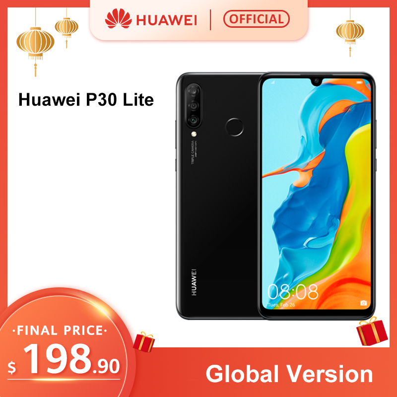 In Stock Global Version Huawei P30 Lite 4GB 128GB 6.15 Smartphone Global Version Inch Kirin 710 Phone  Android 9.0 CellPhone