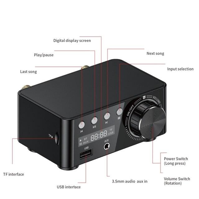 50WX2 Bluetooth 5.0 Power Amplifier Board   4
