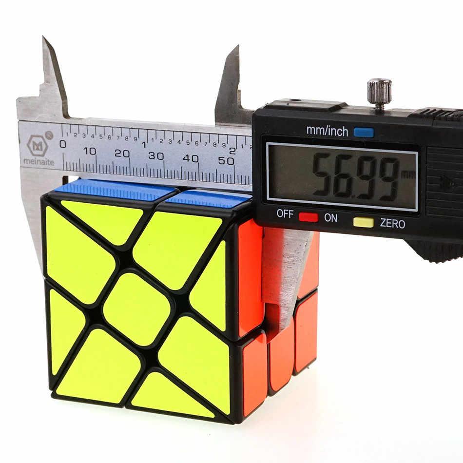 YongJun YJ Fisher магический куб, регулярно меняющийся Jinggang, скоростной куб с матовой наклейкой YJ 3x3x3 , игрушка - головоломка для детей
